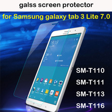 2016 New premium tempered glass screen protector for samsung galaxy tab 3 V lite 7.0 T110 T111 T113 T116 7''