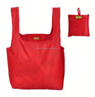 Eco 190T polyester supermarket shopping foldable bag for outing events