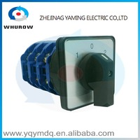 LW26-125/3High quality dc voltage manual electrical momentary changeover rotary switch 125A three poles(phase) sliver contacts