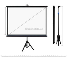 Tripod Standing Projector Screen Folding Screen Outdoor / Indoor Portable Mobile Projection Screen Matt White