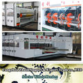 full automatic high speed flexo printer slotter die cutting carton printing machinery