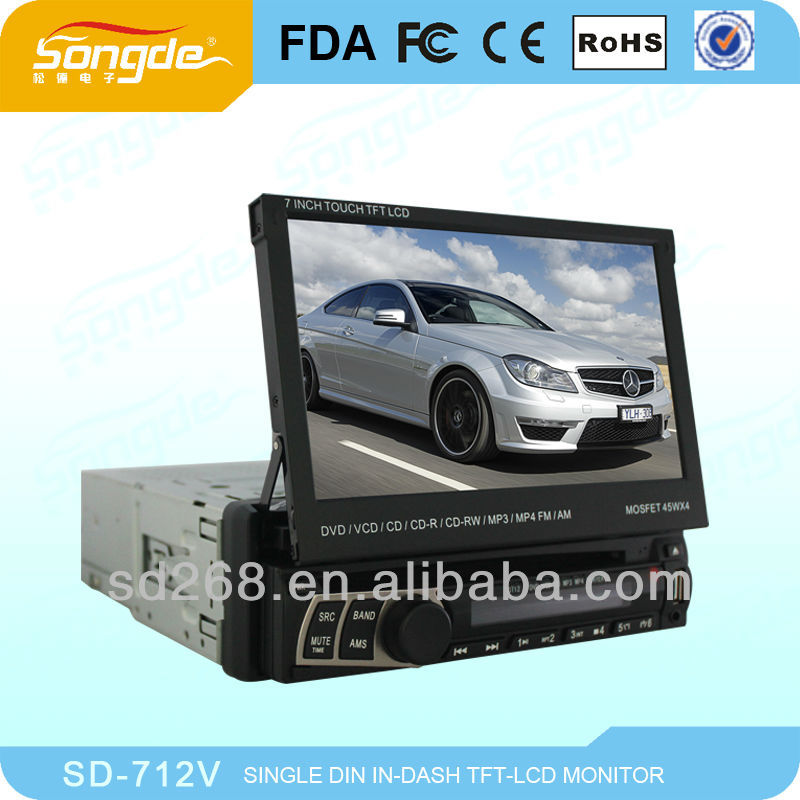 "7"" One Din Car DVD Car GPS System;Car radio,1 DIN car DVD,universal dvd"
