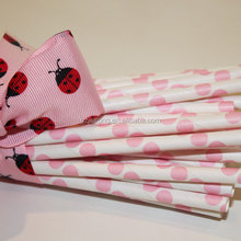 Guangzhou factory Pink Paper Straws Kit, Disposable Party Paper Drinking Straws Pink Striped, Chevron , Polka Dot