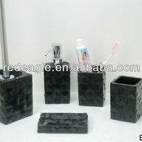 EA0149 Black Bathroom Accessories Modern Fashion