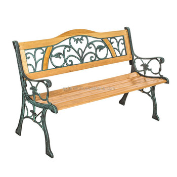 Factory cast iron and wood bench