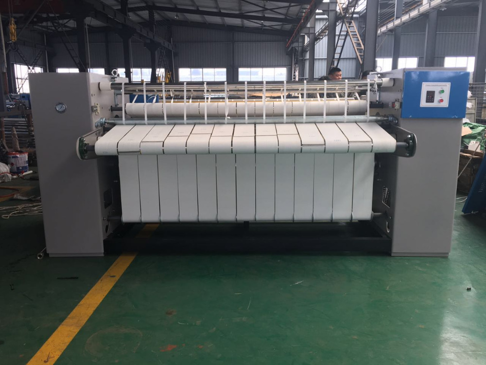 China Full Auto 2000mm gas hotel tablecloth ironer for sheet with Warranty