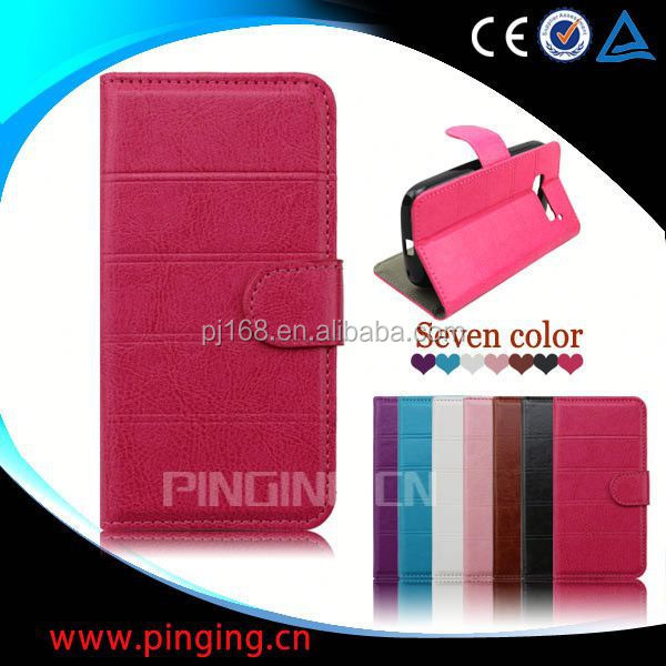 for Huawei Ascend P6 Mini case, book style leather flip case for Huawei Ascend P6 Mini
