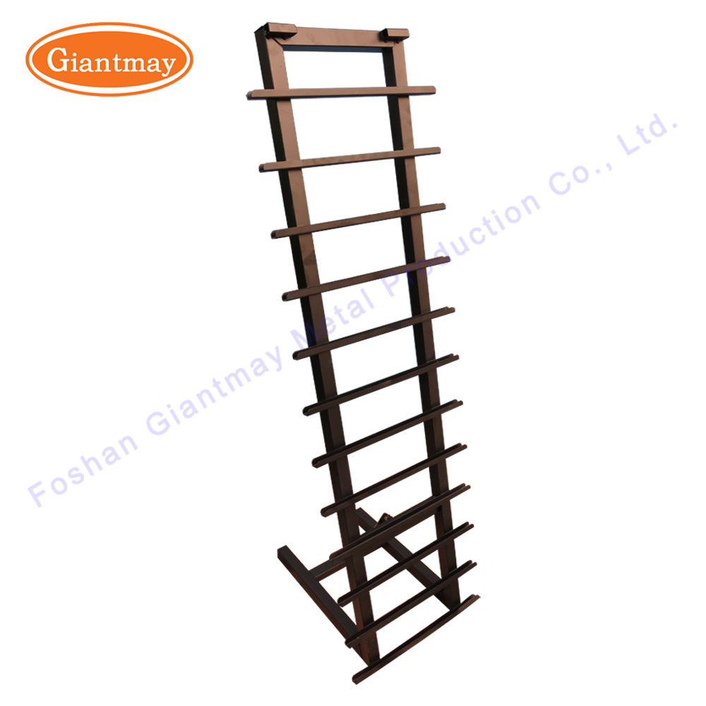 Metal floor standing sliding units porcelain ceramic tile exhibition show display racks stands for tiles
