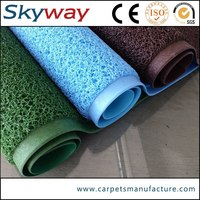 High quality anti slip PVC color rubber backed washable rugs