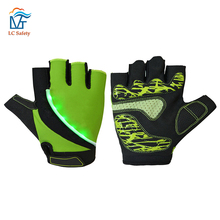 LED Light Half Finger Riding Cycling Racing Gloves for Motor Bike Bicycle Motorcycle