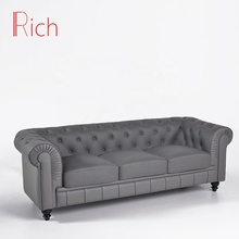 Modern classic PU sofa 3 seater couch set living room <strong>furniture</strong>
