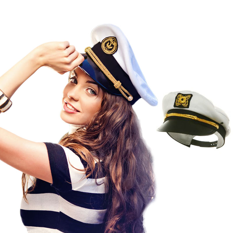 New Design White Custom Captain Sailor Hat