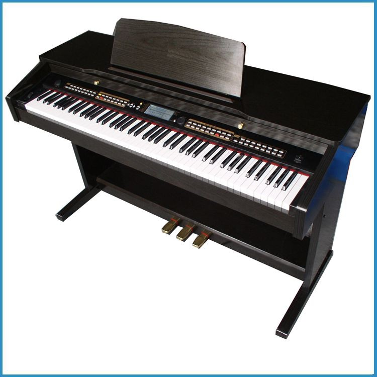 upright 88 key digital piano with midi interface , electronic piano touch response keys , electric piano China
