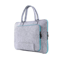 New design 15 inch laptop case handmade gray felt laptop computer bag with handle