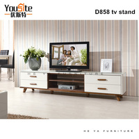 luxury furniture home modern tv wall unit, glass tv stand