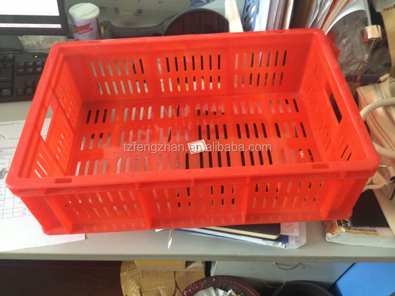 2015 500mm*320mm*150mm injection plastic crate mold india market