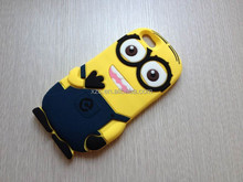 2015 despicable me 2 minions 3d silicone soft case for iphone6,6 plus