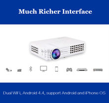 Mini led pocket data projector 1920x1080 Mini LED Video Projector