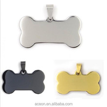 Yiwu Aceon Stainless Steel engravable dog tags pet popular dog id tag