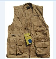 New Custom made Quick-drying Fishing Clothing Military Vest, Multi Pocket Vest