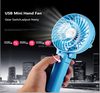 cellphone accessories manufacturer Colorful ABS hand small plastic fan