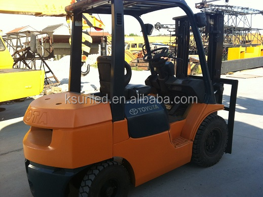 Used good 2.5 ton TOYOTA forklift FD25 low price for sell