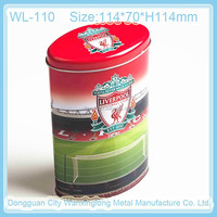 Customized oval chocolate packing metal tin can