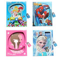 Frozen student notebook student diary book with lock