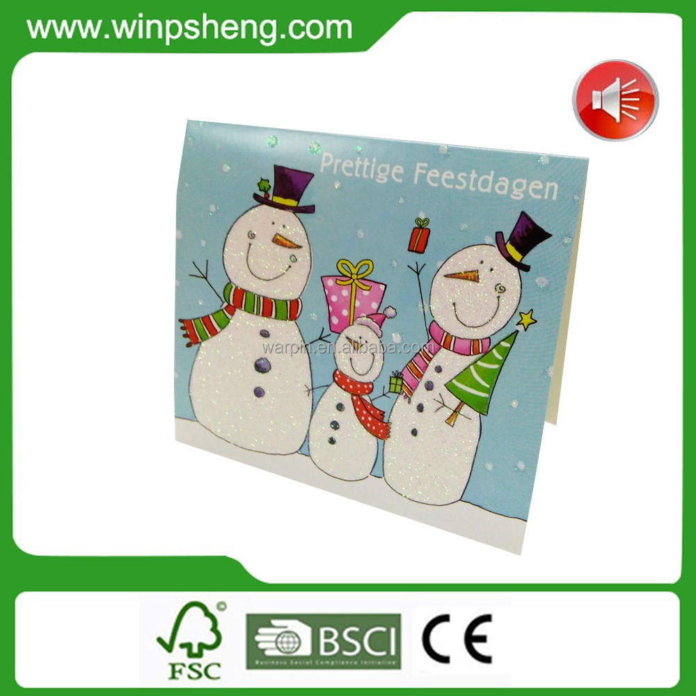 3D Pop Up Musical Christmas Card / Music Greeting Card
