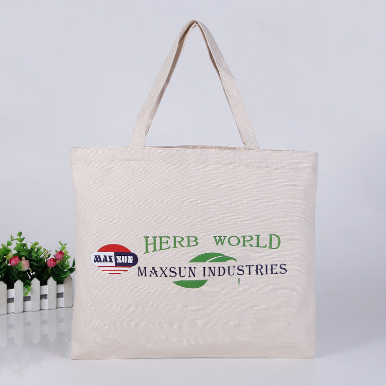 High quality foldable recycled plain cotton bag for packaging