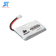 3.7v 250mah small size rc quadcopter lipo battery for syma brand
