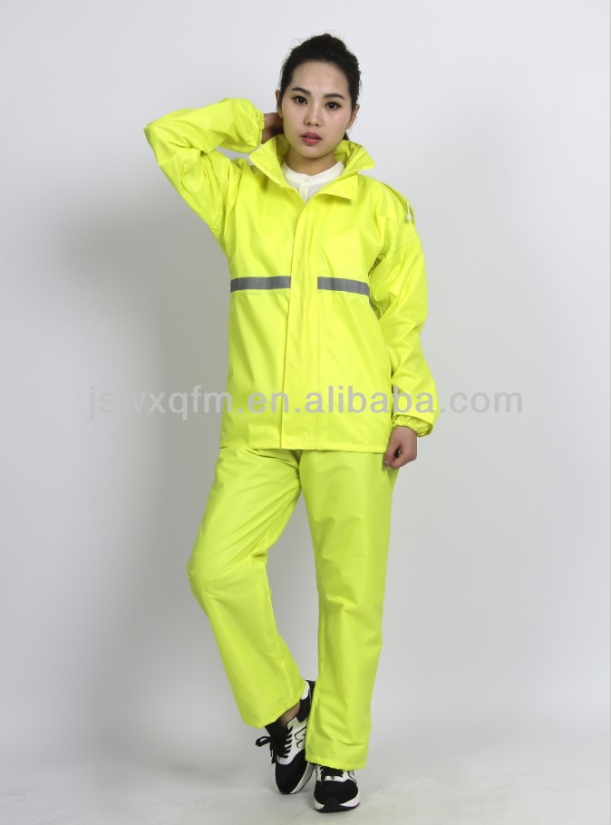 Fluo yellow Polyester Raincoat