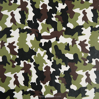 PU leather with camouflage printng high quality fabric for garment jacket