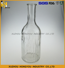 High Quality 500ml Flask Clear Liquor Glass Bottle Hot Sale