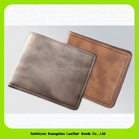 15428 Ultra thin simple hot sale leather wallet for men