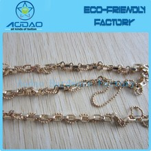 Detachable metal electroplating rose gold square colored ball chain for handbag/purse/jewelery accessories