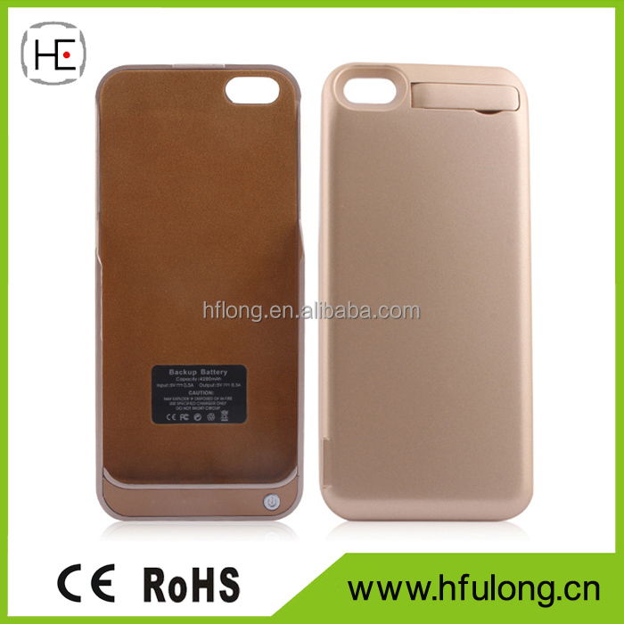 Battery Charger Case 4200mah Back Up Power Bank Extended Battery Charging Case for iPhone 5 5S 5C SE