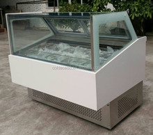 12/16/20/22 GN pans ice cream display showcase gelato cabinet antifogging glass refrigerated deep freezer with ce standard