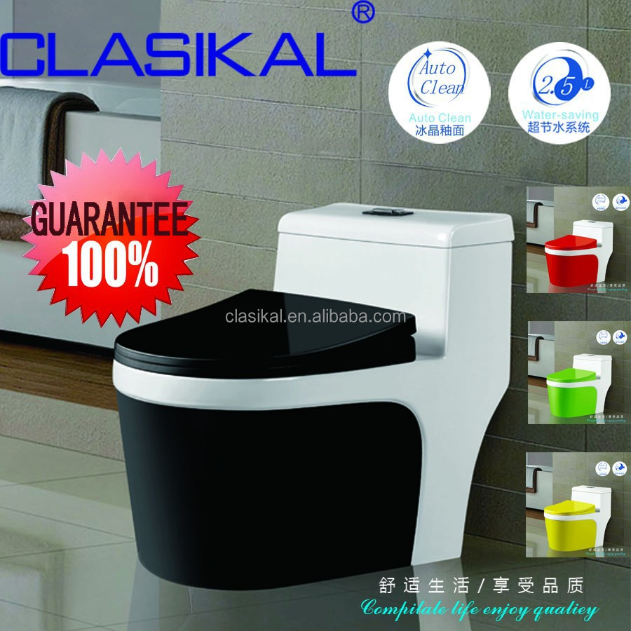 CLASIKALsaving water vortex one-piece wc sanitary ware bathroom black color ceramic toilet
