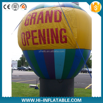 Cold air blue cheap inflatable advertising balloon for outside F1025