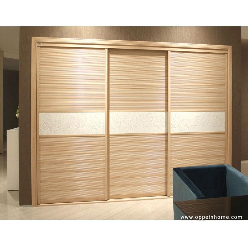Oppein Modern Bedroom Furniture 3 Sliding Doors Wooden Wardrobe Closet Buy Wardrobe Closet