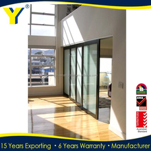 Modern House Gate Designs Glass Sliding Door Certificated by Alibaba made in China YY construction