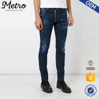 New style denim fabric classic blue cheap stretch cotton man jeans