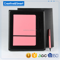 Top quality cheap price fancy A4 A5 A6 hardcover notebook with PEN fo office &school