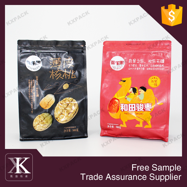 Zipper standing laminated metalized food pouches