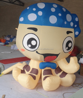 2015 hot sale inflatable baby octopus, price baby octopus for advertising