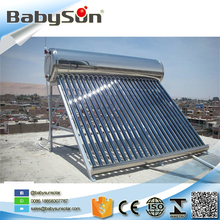 Stainess steel non pressure vacuum tube solar water heater