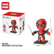 LNO plastic mirco blocks super hero toys marvel action figure deadpool