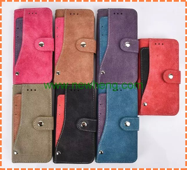 New product rotating wallet leather case with card slot for iphone 7