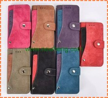 New product rotating wallet leather case with card slot for iphone 6s